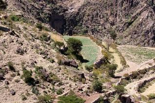 Geography Yemen - Mountain Farm Village