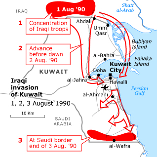iraqs invasion of kuwait in 1990 Fahd butt's answer to why did iraq invade kuwait covers it really well (indians based in kuwait) during the iraqi invasion in 1990.