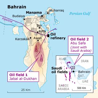 Economy Bahrain - Bahrain oil field locations