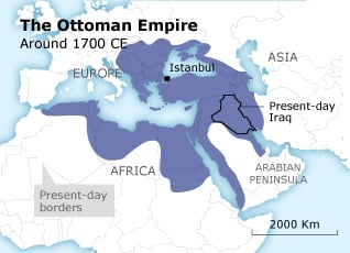 The Map of the Ottoman Empire