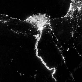 Population Egypt - Satellite view of Egypt