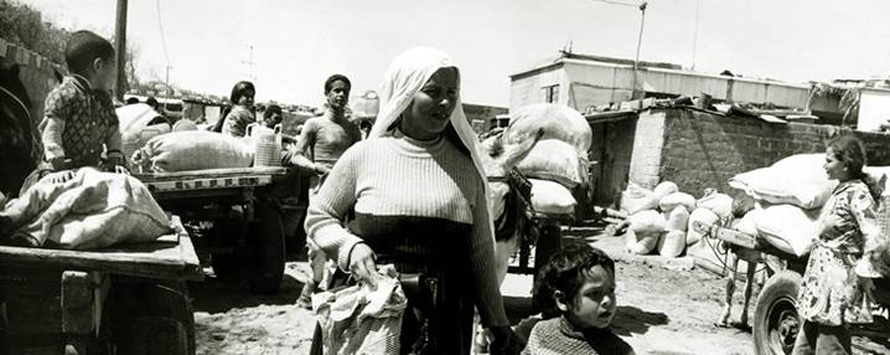 Palestinian refugees in Gaza, 1978 / Photo Keystone/HH