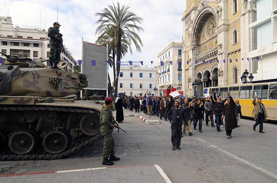 Governance Tunisia - anti-rcd protest