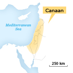 Canaan map