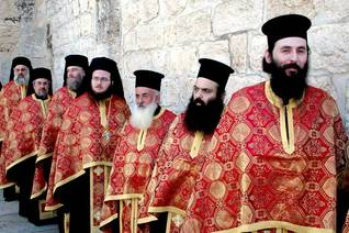 Greek Orthodox priests in Bethlehem / Photo HH