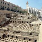 Remains of the Roman baths in Beirut
