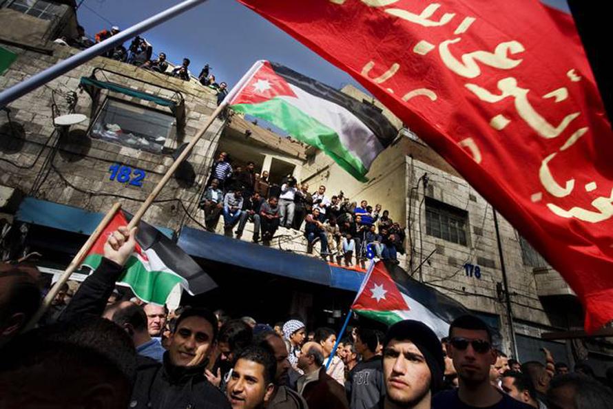 Governance Jordan - Anti-government protester in 2011