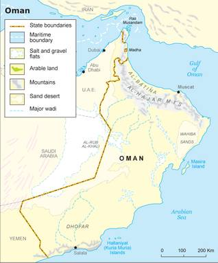 Geography Oman - State Borders