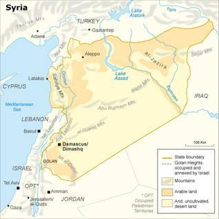 سوريا جغرافيا