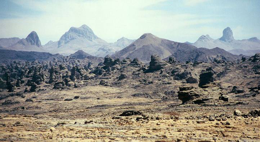 Libya Geography - The Tibesti Mountains, in the Libyan-Chadi border region
