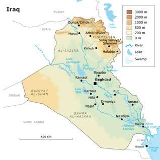 العراق جغرافيا