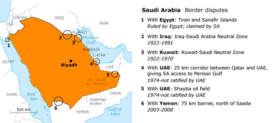 جفرافيا سياسية السعودية