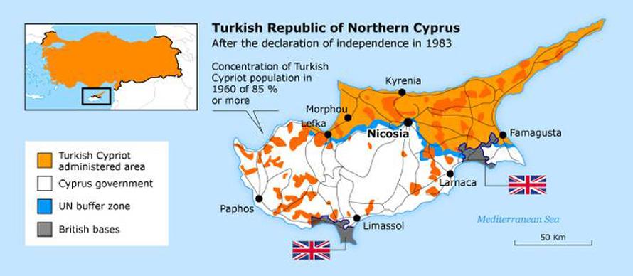 Geography Turkey - Cyprus Map