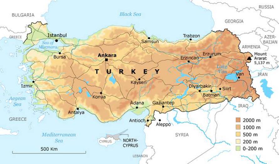 تركيا الجغرافيا