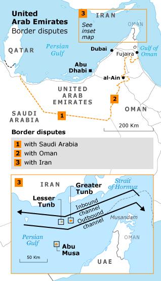 Geography UAE - Border Disputes