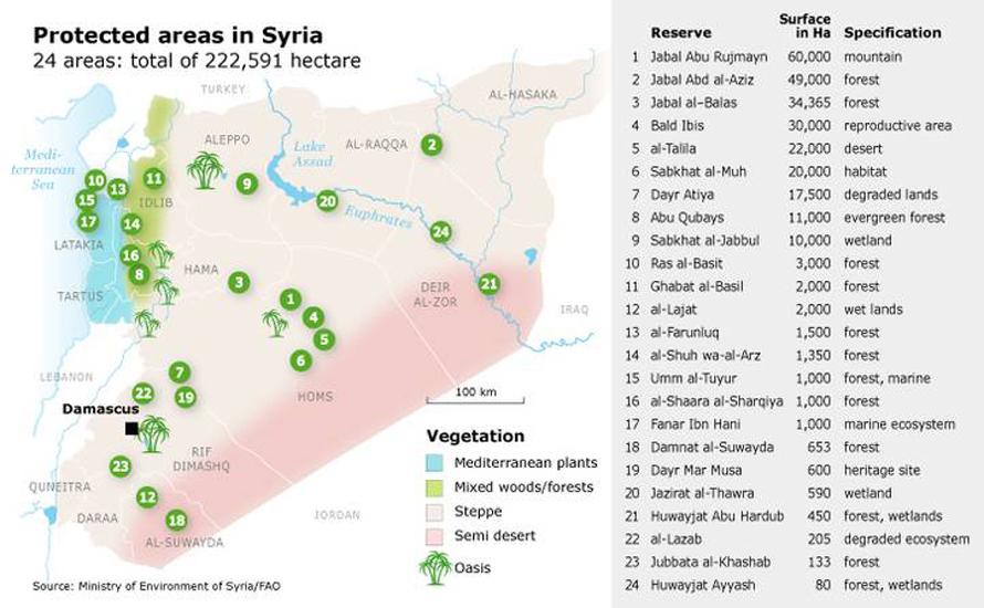سوريا محميات طبيعة
