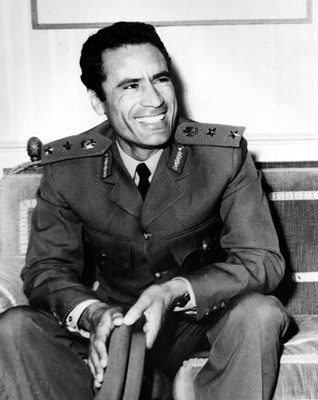 Leader of the 1969 coup, captain Muammar Gaddafi