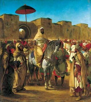 Sultan Abd al-Rahman of MoroccoPainting by Eugène Delacroix