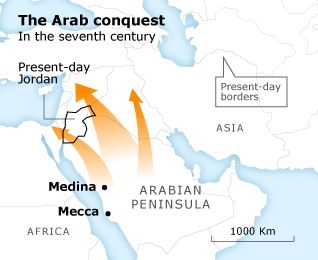 Jordan History Conquest seventh century