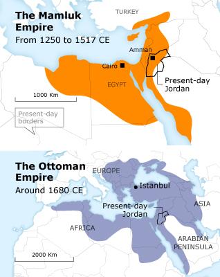 Jordan History Mamluk Empire Ottoman