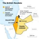 Map of the British mandate. Click to enlarge. ©Fanack
