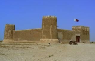 The rebuilt 18th century fort of al-Zubara