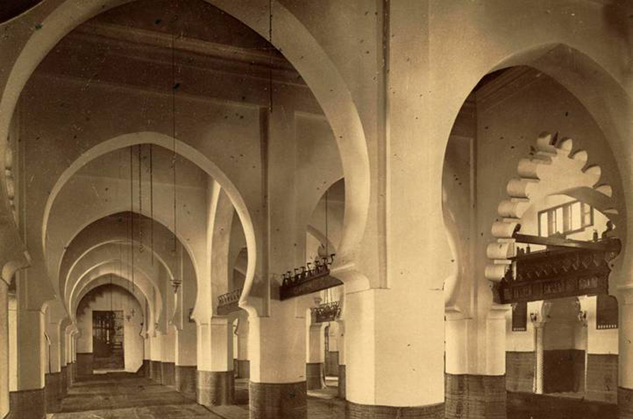 Interior of the Great Mosque of Algiers, the second oldest in Algeria, built in 1097