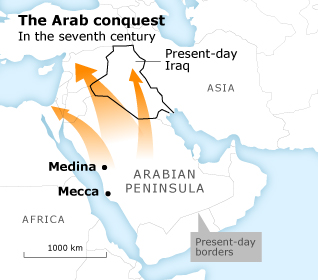 Map of the Arab Conquest