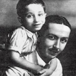 Prince Faysal with his uncle Abd al-Ilah