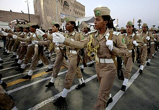 Libya Governance - Army parade Revolution