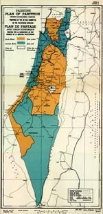The official UN map of the 1947 Partition Plan / Source UN