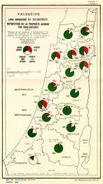 UN map showing the share of Jewish and Arab (Palestinian) landownership in 1947 / Source UN