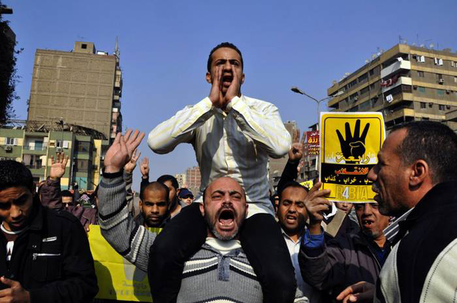 Supporters of Muhammad Morsi protest against the constitution referendum, 3 January 2014 / Photo HH