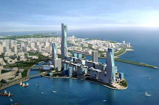 Artist impression of King Abdullah Economic City