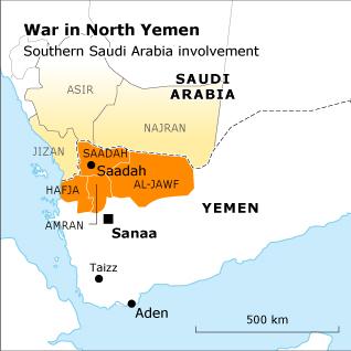 War in North Yemen - Southern Saudi Arabia Involvement