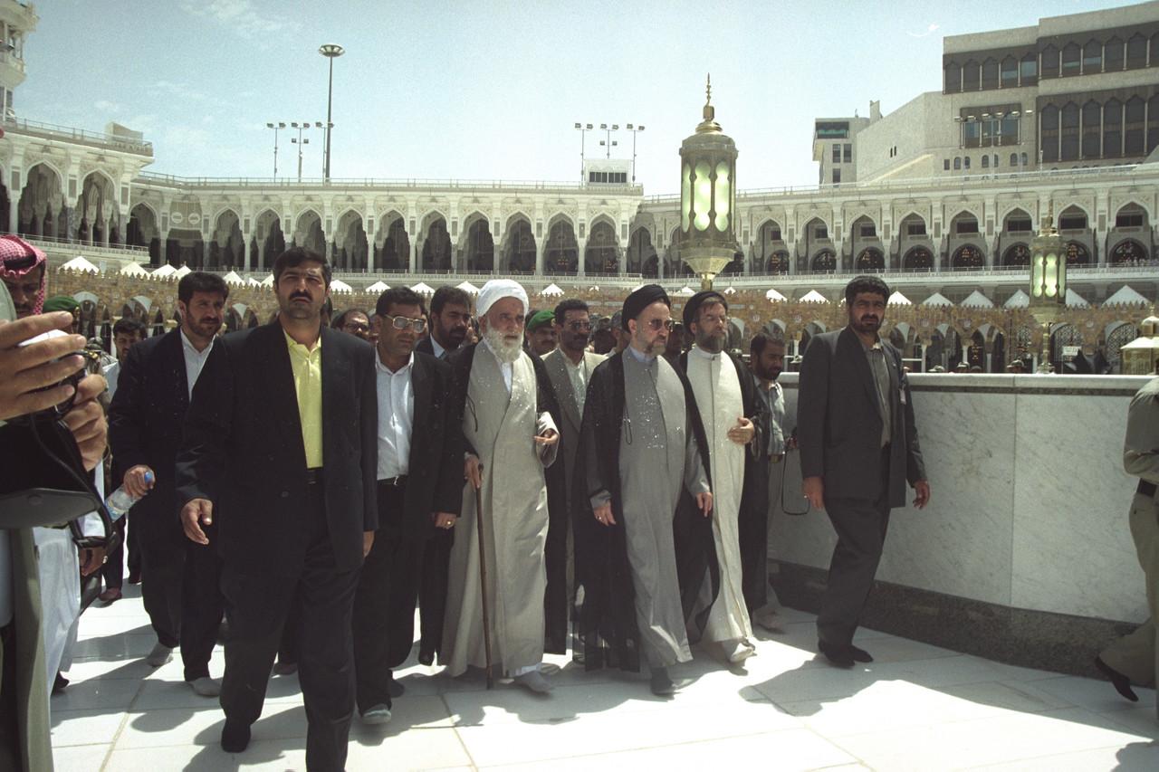 Former Iranian President Mohammed Khatami in Mecca / Photo Corbis