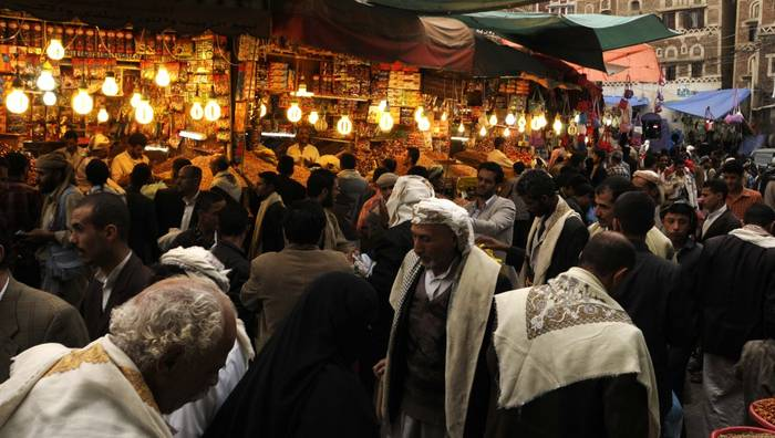 Economy Yemen - Market Eid al-Fitr