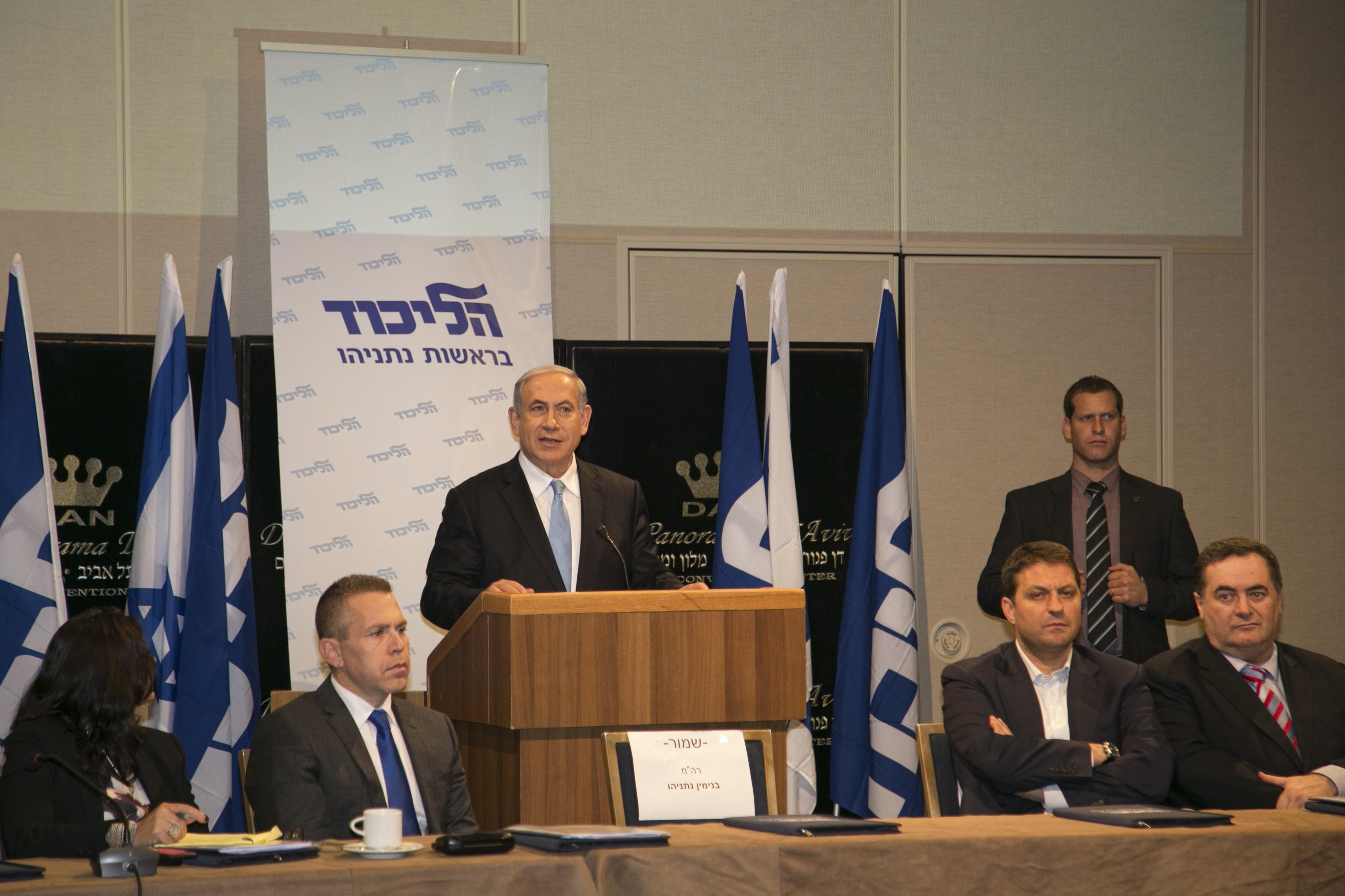Tel Aviv, January 25, 2015 - Israeli Prime Minister Benjamin Netanyahu spoke during the launching campaign event of the Likud party - Image by © Dan Bar Dov/Demotix/Corbis