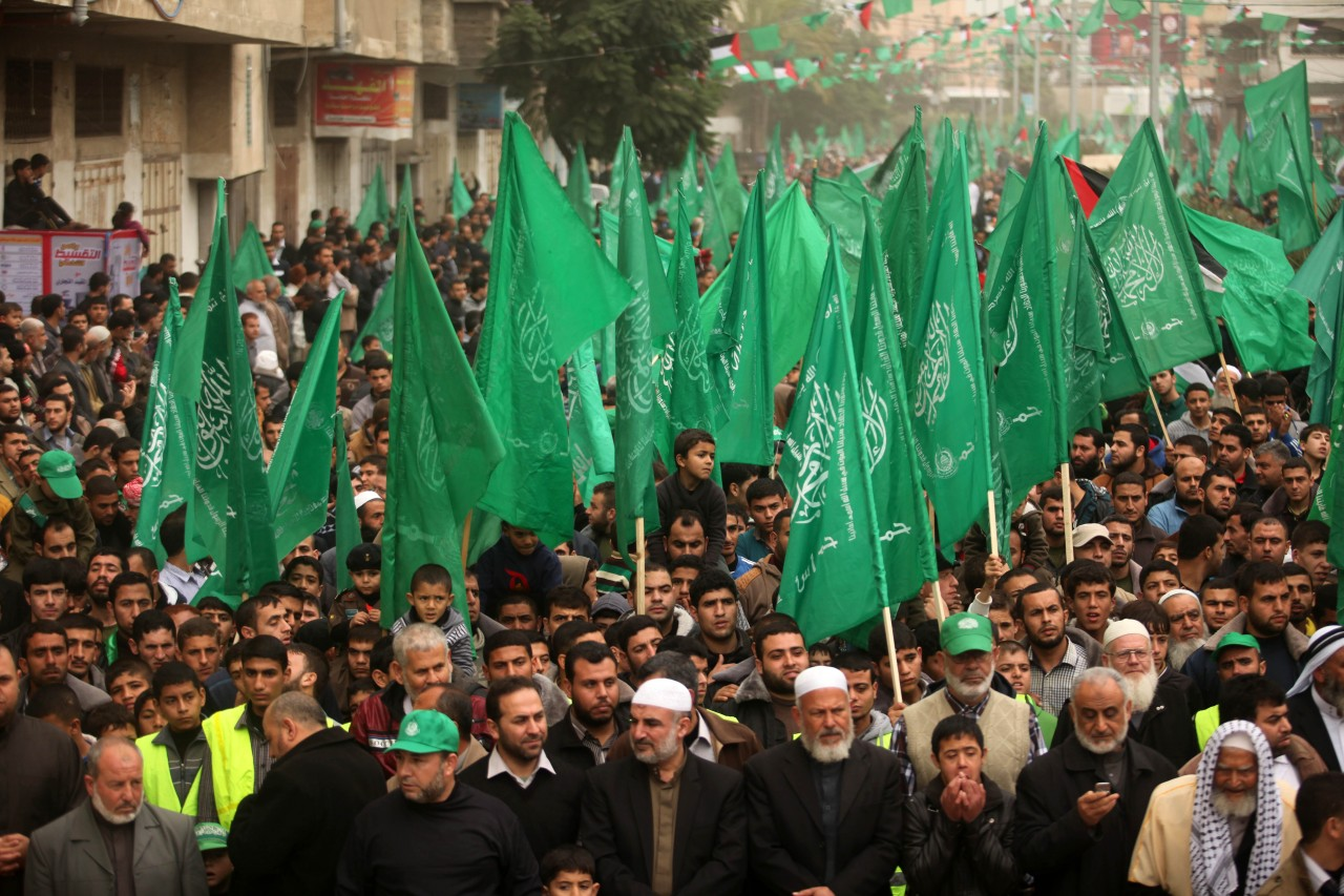 commemorate the 27th anniversary of the Islamist Hamas
