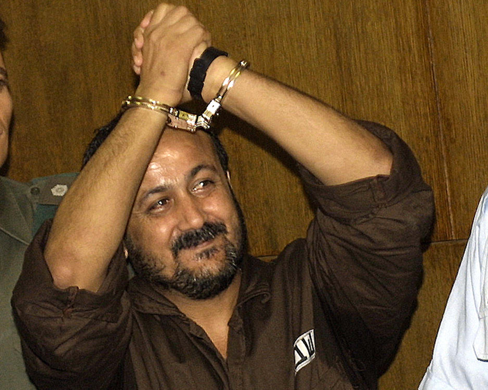 Marwan al-Barghouti during his sentencing in a Tel Aviv court in 2004/ Photo Rina Castelnuovo/The New York Times