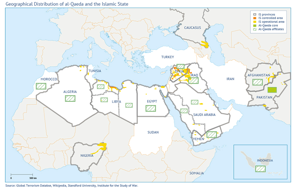 terror attacks in the middle east IS and al-Qaeda