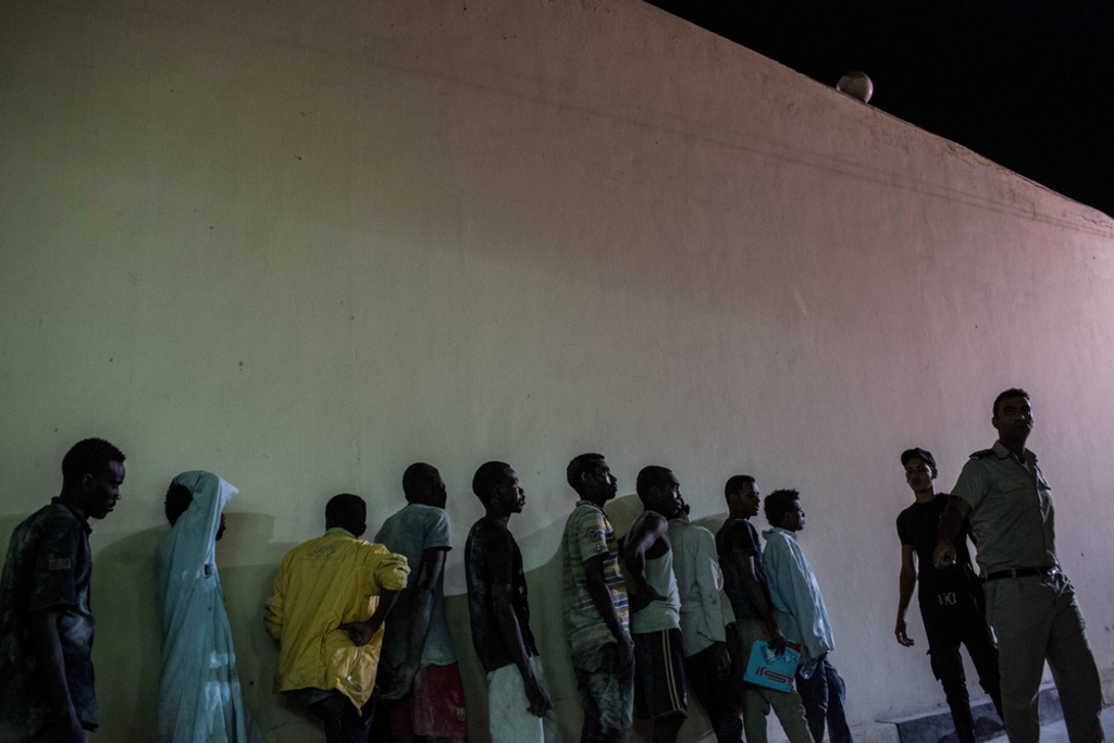 Sudanese-people-detained-at-a-police-station-in-Egypt