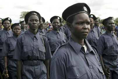 Sudan population police officers