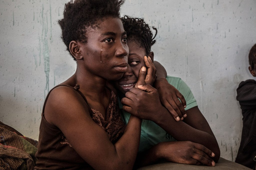 Nigerian-migrants-in-a-detention-center-in Libya