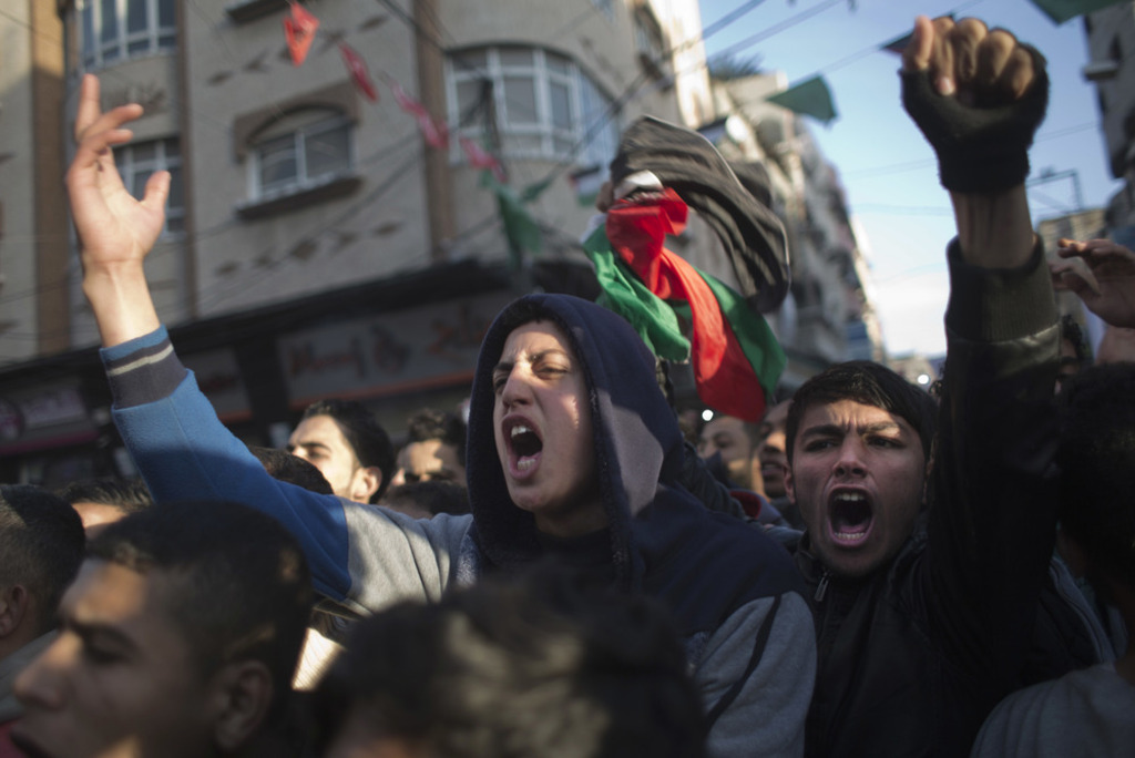 protest-against-Hamas-because-of-chronic-power-cuts
