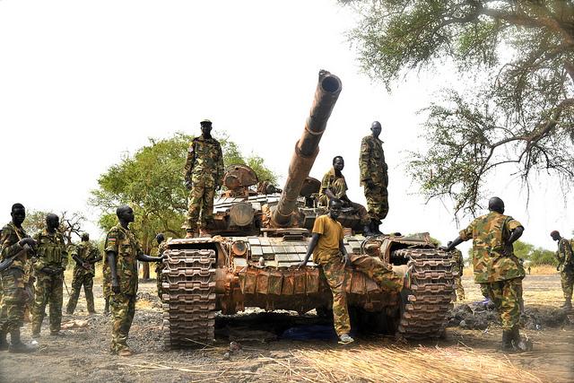الحروب الأهلية SPLA soldiers