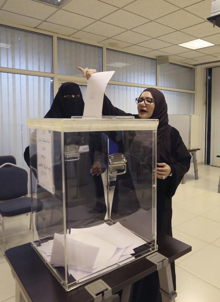 Saudi women vote