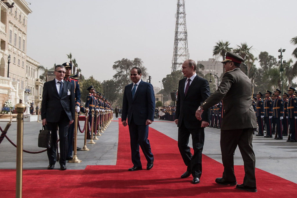 Russia's influence in the Middle East Abd al-Fatah al-Sisi and Vladimir Putin
