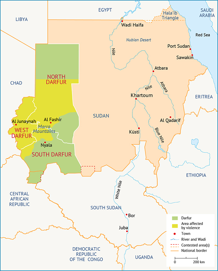 Sudan Darfur civil wars