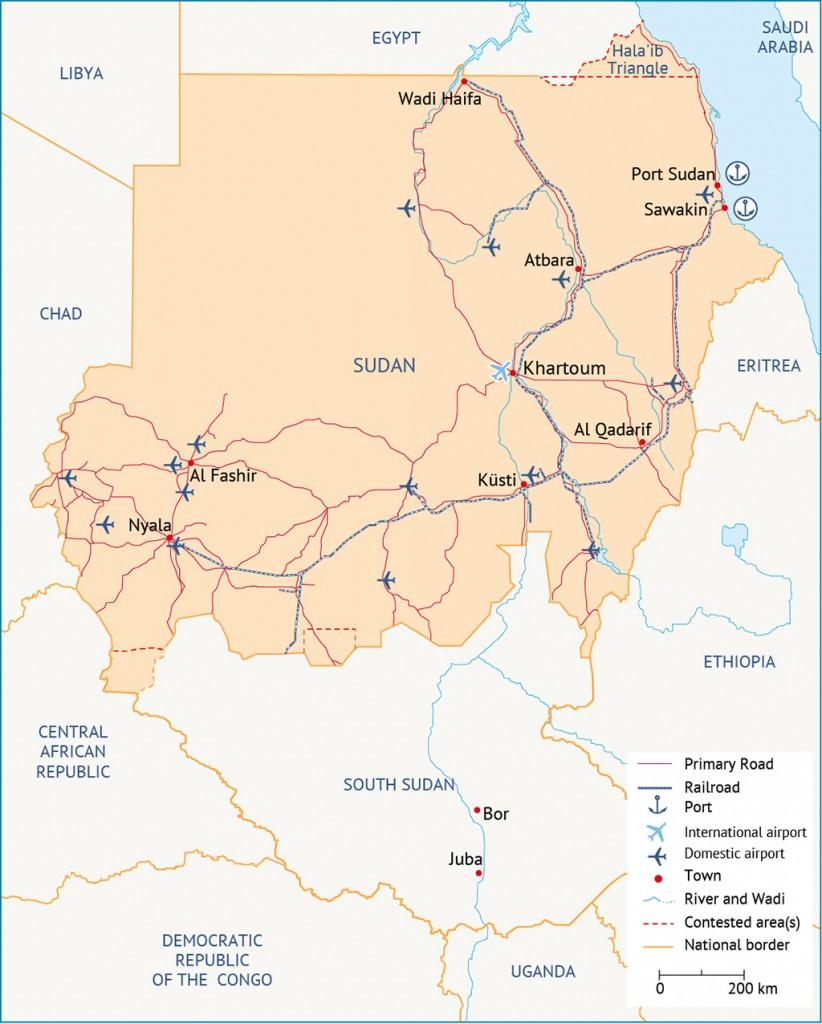 infrastructure Sudan Economy